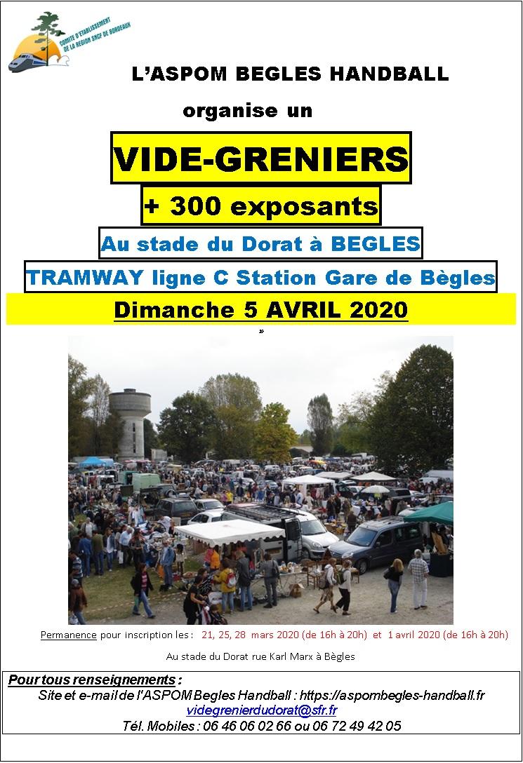 Affiche vide grenier Avril 2020
