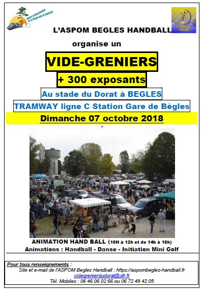Affiche Vide grenier ASPOM oct 2018